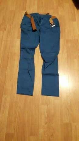 Spodnie niebieskie z paskiem!