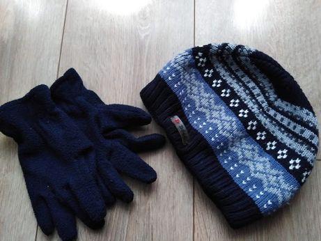 czapka zimowa i rękawiczki polarowe (6 zł całość)