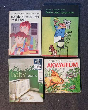 Zestaw ksiązek o urządzaniu wnętrz-vintage i współczesna-4 sztuki.
