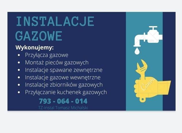 Usługi hydrauliczne i c.o., instalacje gazowe; nawadnianie ogrodów
