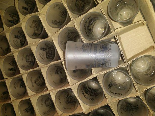 120 copos pequenos em vidro de sintra
