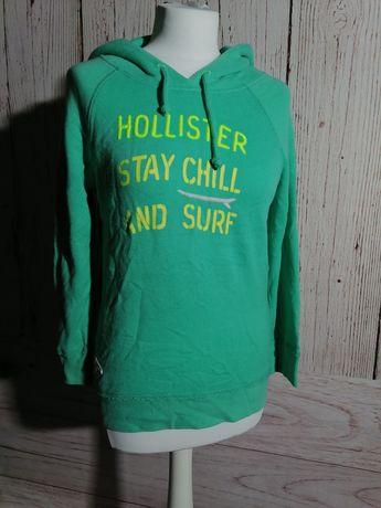 Bluza sportowa z kapturem bawełna Hollister XS
