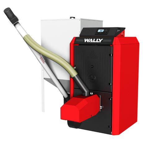 Kocioł, piec żeliwny na pelet KLIMOSZ UNIPELET 4S - 19 kW - Ecodesign