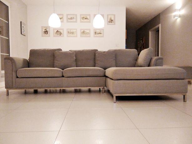 Sofa narożna z otomaną OSLO BELIANI