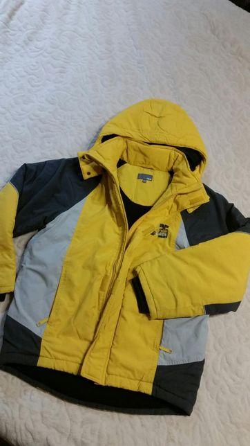 Kurtka zimowa polar H&M 152 kaptur sportowa gratis rękawiczki