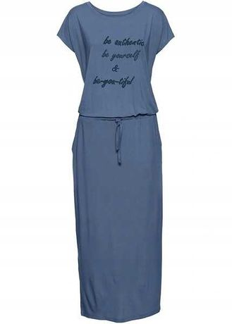 20) Niebieska sukienka 44 NOWA
