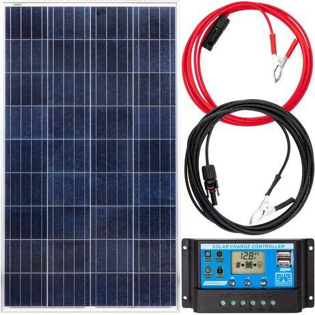 Panel solarny bateria słoneczna 140w 12v regulator [ZES262]