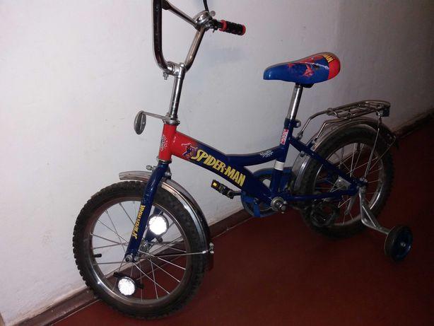 """Детский велосипед (16"""") с доп колесами"""