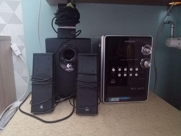 Sprzedam mini wieżę wraz z zestawem głośników 2.1
