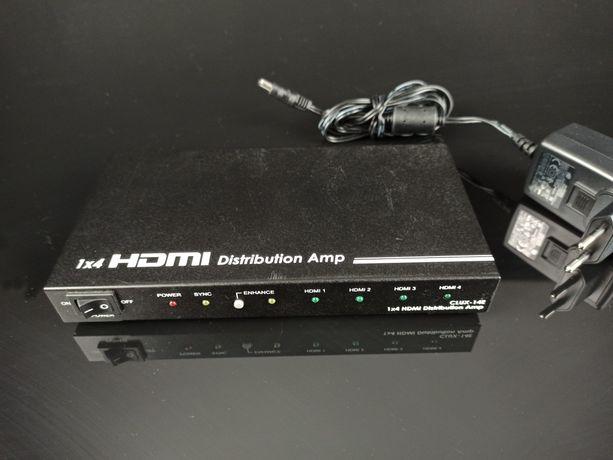 Rozdzielacz HDMI 1x4 z wzmacniaczem sygnału Cypress CLUX-14S Splitter