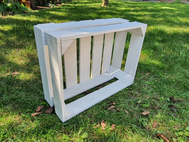Skrzynka drewniana BIAŁA 39 x 29 x 16 cm