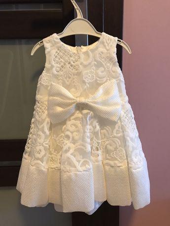 Sprzedam sukienkę na chrzest roczek wesele 80