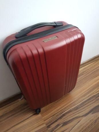 Bordowa walizka kabinowa Vip Travel mała