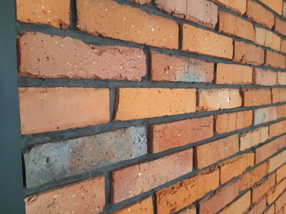 płytki z cegły,lica z cegły,cięta cegła,retro cegła,loft,stara cegła Katowice - image 1