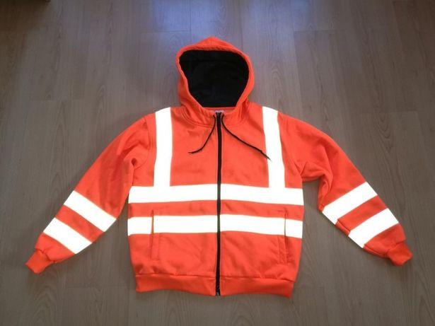 Bluza dresowa STANDSAFE roz.S na 164-170 wzrostu,ostrzegawcza,odblaski