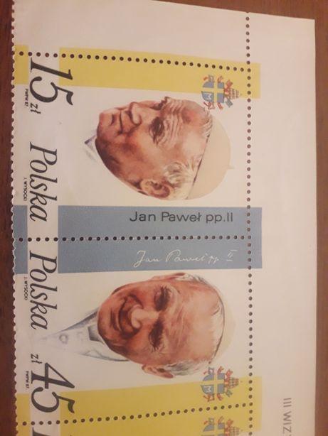 Znaczki pocztowe Jan Paweł 2 3 wizyta
