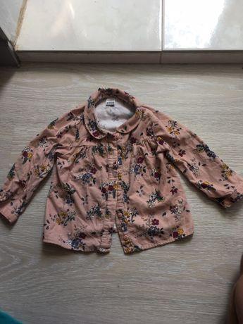 Стильная рубашка Вельвет