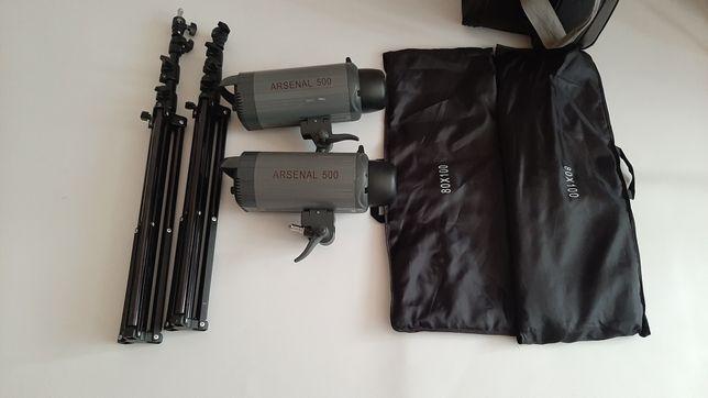 Студийная Вспышка Arsenal,студийный свет ARSENAL VC 500 kit, ARSENAL