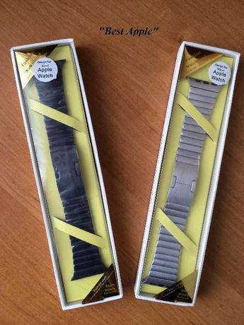 Стальной блочный браслет(ремешок), Link Stainless Steel for AppleWatch