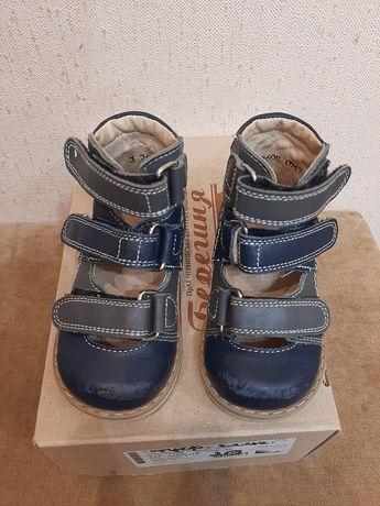 Кожаные ортопедические туфли р. 20