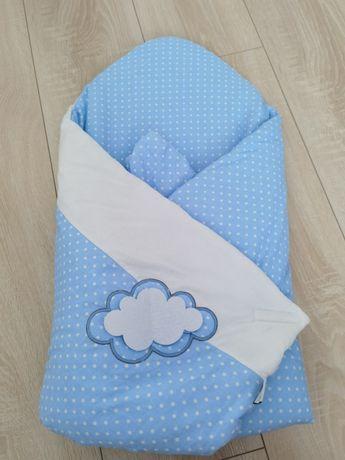 Rożek becik niemowlęcy bawełna usztywniany