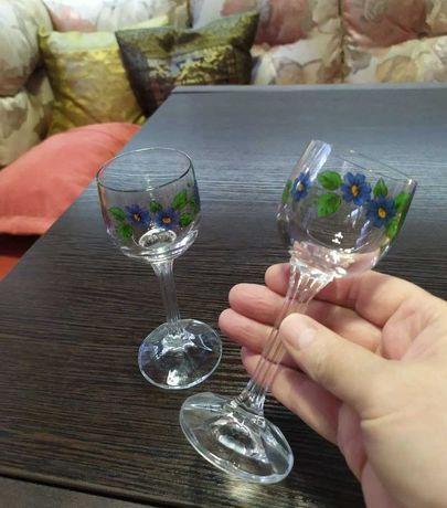 Рюмка стопка старинная выс-13 см 60-е СССР стекло посуда сервиз бокал