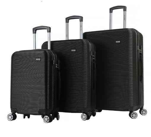 Zestaw walizek podróżnych Mulano XL L M czarne walizki bagażowe 1071