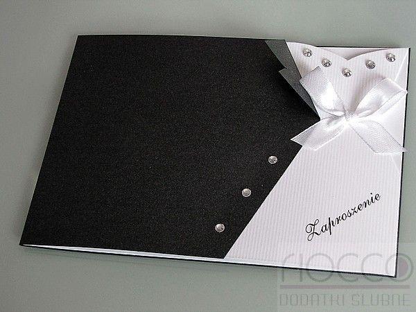 Ekskluzywne Zaproszenia Ślubne garnitur i sukienka 3,00zł