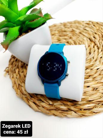 Piękny morski zegarek LED Pasek silikonowy  Dwie wielkości