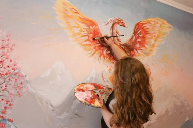 Розпис стіни, розпись стен, авторские картины, художник