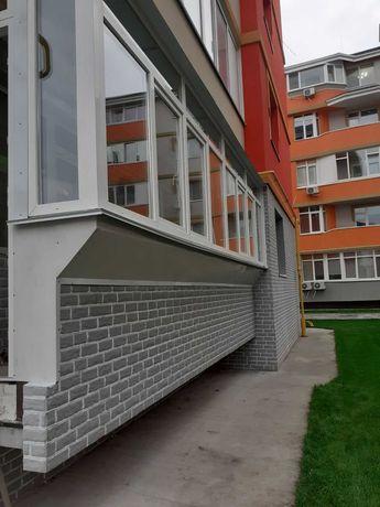 Балконы под ключ Киев, Остекление, Утепление, Вынос, Крыша, Обшивка