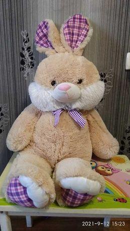 большие мягкие игрушки 100 см,заяц,медведь новые