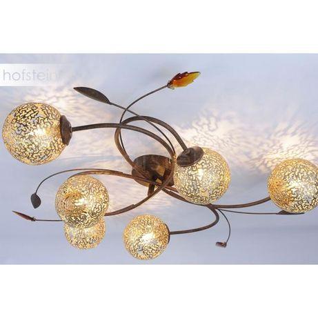 Stylowa elegancka lampa sufitowa złota/brązowa GRETA 6398-48 Paul Neu