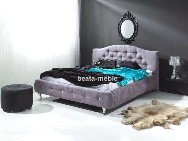 Tapicerowane łóżko Rococo glamour kompletne z materacem 180 x 200cm