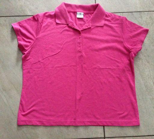 Koszulka polo róż amarant L XL ORSAY H&M