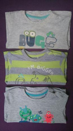 Cool club Smyk 3 sztuki bluzka długi rękaw rozmiar 74 stan idealny