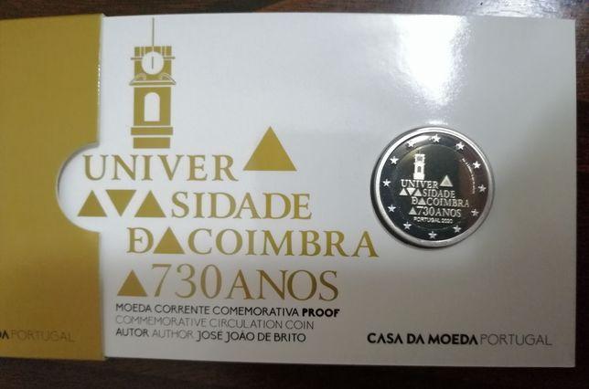 Moeda Proof 2 Euro 730 universidade de Coimbra