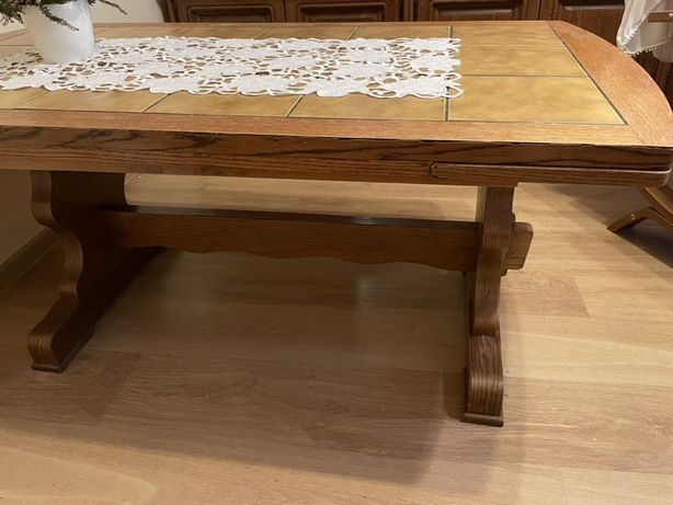 Stół, ława rozkładana retro