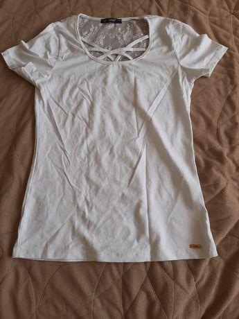 Tshirt biały koronka rozmiar 38