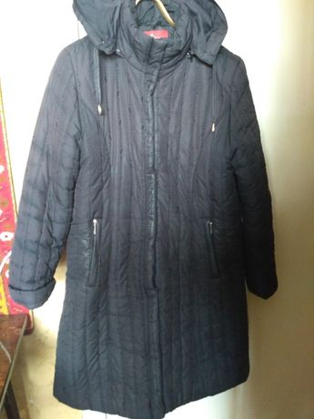 Пальто пуховик куртка женская черный