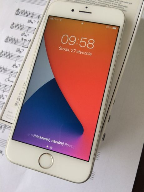 Iphone 6s 32 GB Silver Komplet