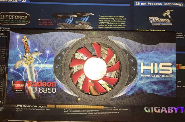 Игровая видеокарта, his hd6850 1gb