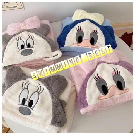 Уголок полотенце плед халат для детей микрофибра супер качество Микки