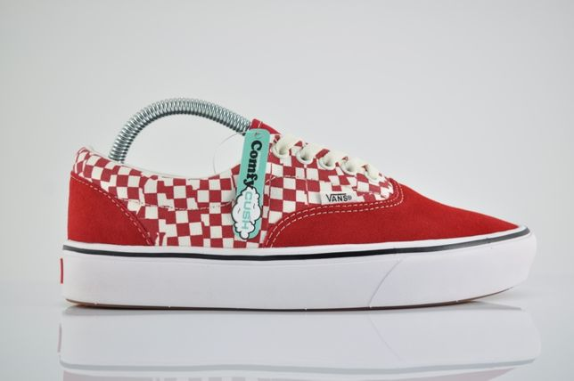 "Vans ComfyCush Era ""Red/Checkerboard"" 40,5 nowe czerwone PURRFECT"