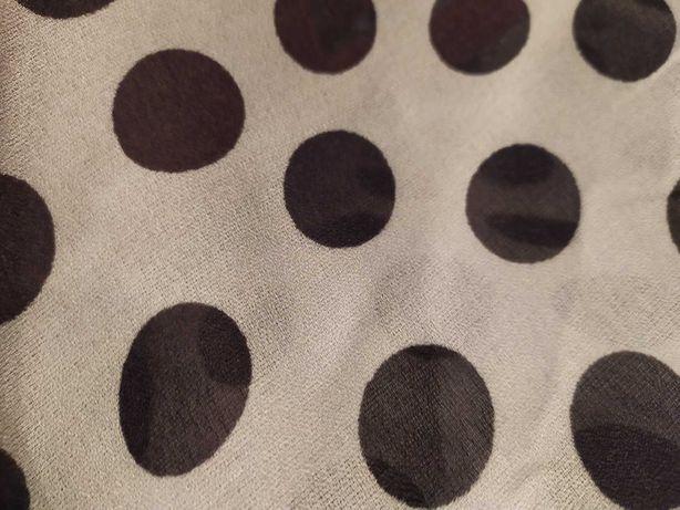 ткань 110 см ширина белая в горох чёрный 8 метров