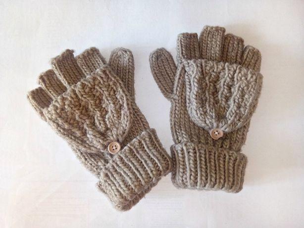 ЧЕРНАЯ ПЯТНИЦА Коричневые варежки Accessoires рукавицы на пуговицах
