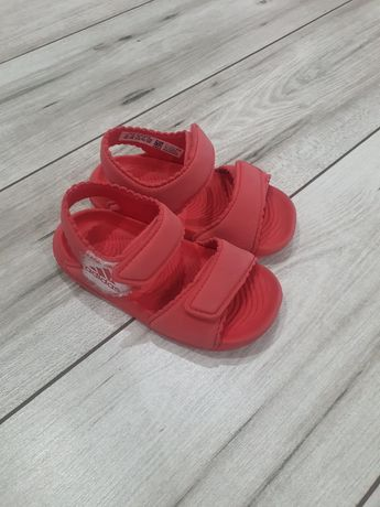Sandałki piankowe Adidas 23 koralowe stan bdb
