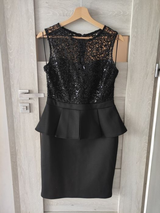 Czarna sukienka z baskinką Lipsy London Wodzisław Śląski - image 1