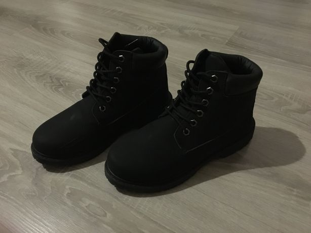Czarne traperki buty damskie