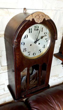 Zegar ścienny baba Gustaw Becker antyk z podwójnym gongiem spiralnym